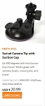 WASPcam model 9932 Swivel Camera Tip with Suction Cup