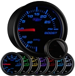 Glow Shift Tinted 7-Color Vacuum/Boost Gauge-(30inch/30lb) - WAPGS-T701