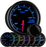 Glow Shift Tinted 7-Color Fuel Pressure Gauge W/Sensor - (0-100lb) - WAPGS-711
