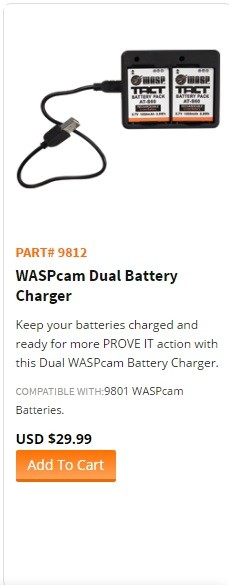 "WASPcam model 9812-""WASPcam Dual Battery Charger"""