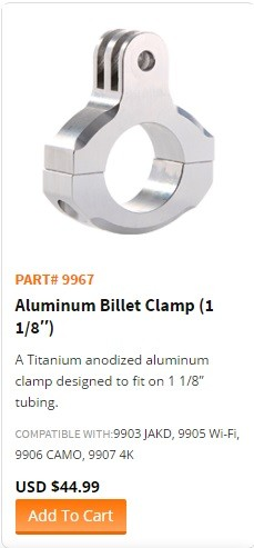 "WASPcam model 9967-""Aluminum Billet Clamp (1 1/8″)"""