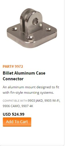 "WASPcam model 9972-""Billet Aluminum Case Connector"""