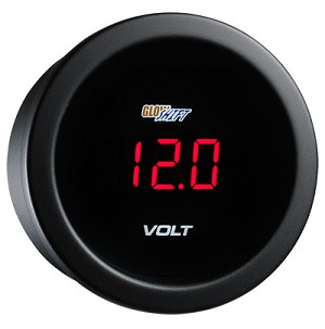 Glow Shift Red Digital Electronic Voltage Gauge -  WAPGS-RD05